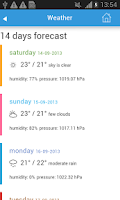 Screenshot of Seoul Guide Hotels Weather