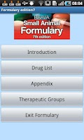 Screenshot of BSAVA Formulary 7th Edition