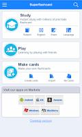 Screenshot of NCE Flashcards