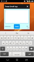 Screenshot of Tweet Small App for Xperia
