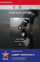 Screenshot of Virgin Radio