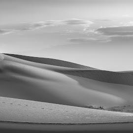by KK-Tan Kiat - Landscapes Deserts ( black and white, b&w, landscape )
