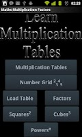 Screenshot of Maths Multiplication Factors