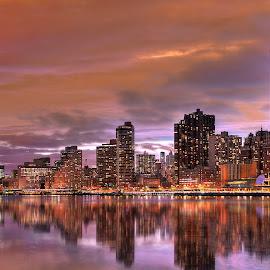 skyline by Rahul Phutane - City,  Street & Park  Skylines ( rahulphutane, skyline, new york )