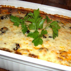 Creamy and Cheesy Beef and Bean Casserole