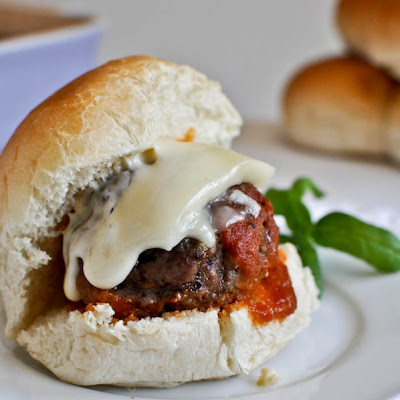 Cheesy Stuffed Meatball Sliders