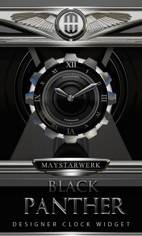Clock Widget Black Panther Screenshot 0