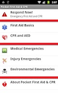 Screenshot of Pocket First Aid & CPR