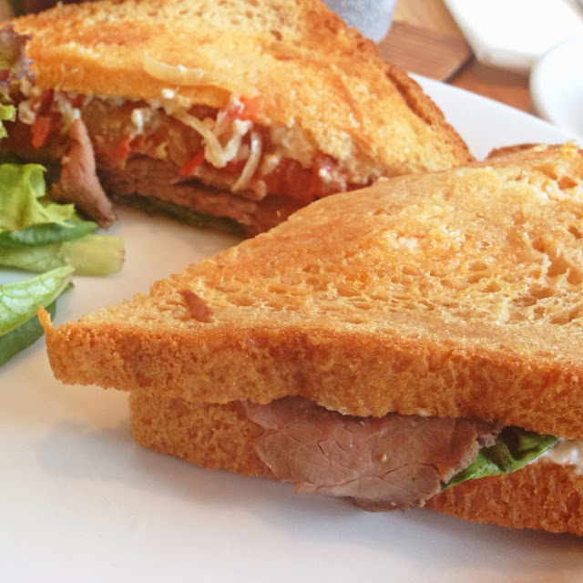 Roast Beef with Chili Lime Tomatoes on GF bread