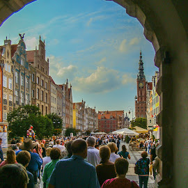 Gydnia Poland by Lee Davenport - City,  Street & Park  Street Scenes