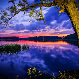 Sunset in Masuria by Marcin Frąckiewicz - Landscapes Sunsets & Sunrises ( sunsets, sunset )