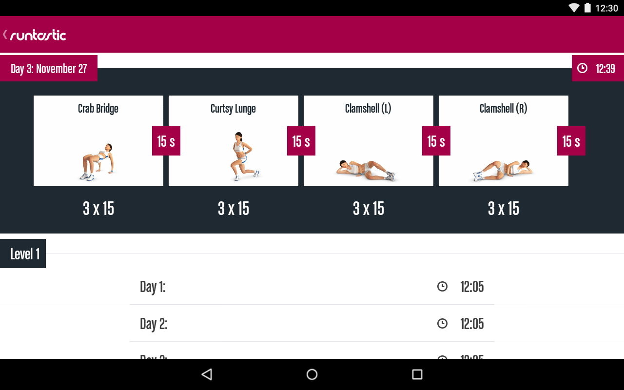 Runtastic Butt Trainer Workout Screenshot 12
