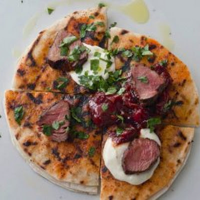 Mole-Rubbed Lamb Tenderloin Quesadillas