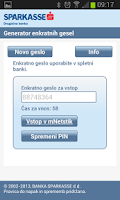 Screenshot of Sparkasse generator