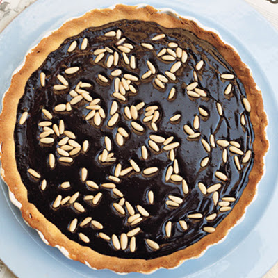 Dark Chocolate and Pine Nut Crostata