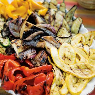 Grilled Vegetable Antipasto with Red Onion Vinaigrette