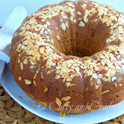 Pumpkin Banana Bread Bundt with Almonds (Twice as Nice Tuesdays)