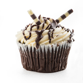 Chocolate Cupcake by Lynn Wiezycki - Food & Drink Cooking & Baking ( cake, chocolate, cupcake, food, dessert )