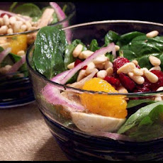 Spinach, Mushroom and Red Onion Salad