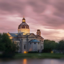 The Rising by Joe Ferraro - Buildings & Architecture Places of Worship ( clouds, water, park, church, sunset )