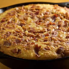 Skillet Corn Bread with Fresh Cut Corn and Bacon