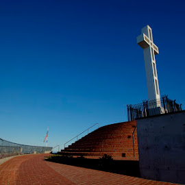 Mt Soledad by Christopher Payne - Buildings & Architecture Statues & Monuments ( soledad, memorial, mount, mt, cross )