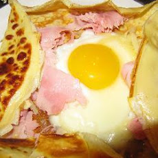 Classic Egg Ham and Cheese Crepe