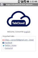 Screenshot of TabCloud