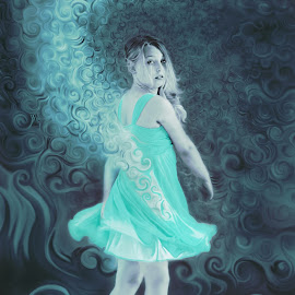 Aquarius by Tanya Hilliker - People Portraits of Women (  )