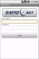Screenshot of RapidCast