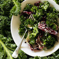 Kale and Radicchio Salad with Broken Caesar Dressing