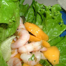 Papaya Shrimp Lettuce Wraps