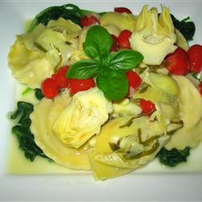 Artichokes in a Garlic and Olive Oil Sauce