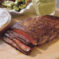 Grilled Flank Steak With Guacamole Sauce