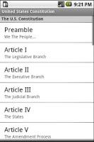 Screenshot of United States Constitution