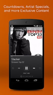 Screenshots  Slacker Radio
