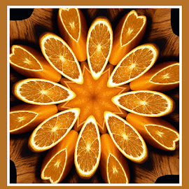 Orange by Joanne West - Abstract Patterns