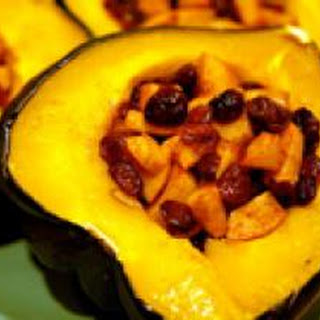 Cranberry and Apple Stuffed Acorn Squash Recipe.  Photo © Elana's Pantry