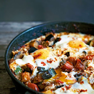 Skillet Eggs with Chorizo and Vegetables