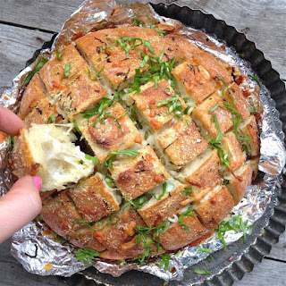 Cheesy Ramp Pull-Apart Bread