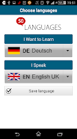 Screenshot of Learn German - 50 languages
