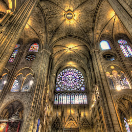 Sainte-Chapelle by Ben Hodges - Buildings & Architecture Places of Worship ( paris, church, hdr, wide angle, france, travel, worship )