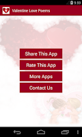 Screenshot of Valentine's Love Poems