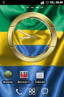 Screenshot of Gabon flag clocks