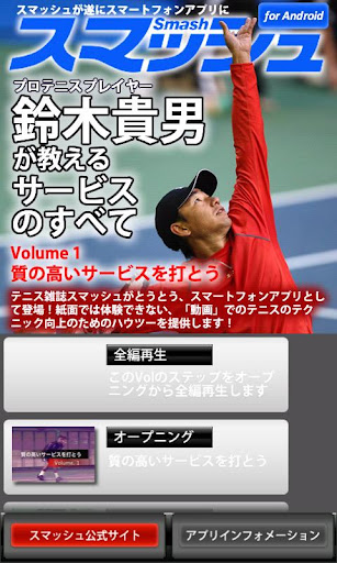 Vol1.スマッシュ 鈴木貴男が教えるテニス・サービスのすべ