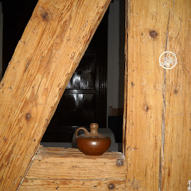 by Emilie Walson - Artistic Objects Still Life ( herrnhut, beams, lamp, germany, knotholes )