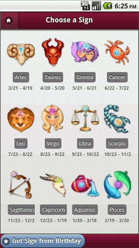 my-horoscopes-from-yahoo for android screenshot
