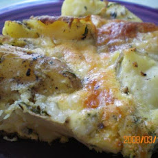 Potato Cheese Pie (Derf) / Quiche
