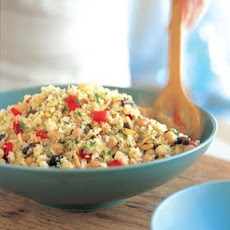 Lemon Couscous with Chickpeas, Red Peppers and Almonds