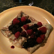 Raspberry Blackberry Crepe Filling